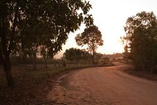 Free Dirt Curvy Road Heading To Unseen Thailand Stock Photo - 14855130
