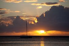 Free Moorea Sunset Royalty Free Stock Photo - 14855135