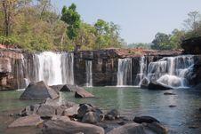 Tat-Ton Waterfall Royalty Free Stock Photography