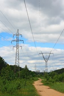 Free High Voltage Line Royalty Free Stock Photos - 14856318