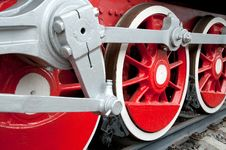 Free Old Steam Engine Wheels Close-up Royalty Free Stock Photos - 14856428