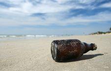 Free Bottle On The Beach Stock Photo - 14856720