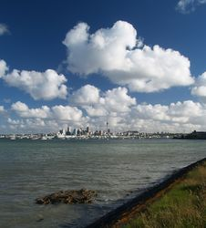 Auckland Skyline Stock Photography