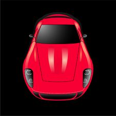 Free Red Sport Car Royalty Free Stock Photography - 14857897