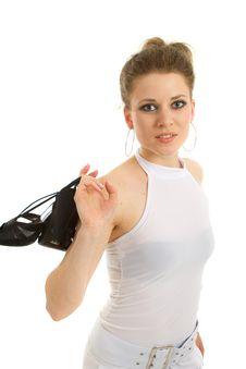 Free Young Blonde Model - Highkey Shot Royalty Free Stock Photography - 14858227