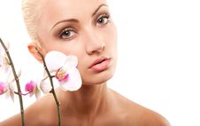 Free Woman And Orchid Royalty Free Stock Photo - 14858355