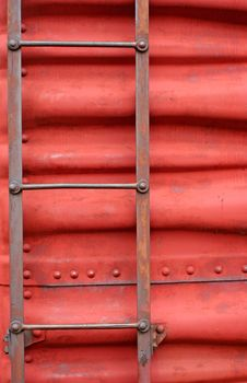 Ladder On The Side Of A Train Boxcar Royalty Free Stock Photo