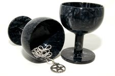 Free Marble Goblets With Pentagram Royalty Free Stock Photos - 14859698