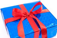 Free Gift Box With Red Bow Royalty Free Stock Images - 14859859