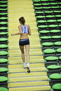 Free Woman Jogging At Athletics Stadium Stock Images - 14861314