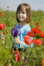 Free Little Girl In The Corn Poppy Royalty Free Stock Images - 14861539