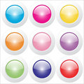 Free Web Buttons - Glossy Royalty Free Stock Images - 14867329