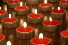 Free Candles In Darkness Stock Photography - 14860292