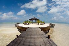 Free Gazebo At Resort Seashore Royalty Free Stock Images - 14860769