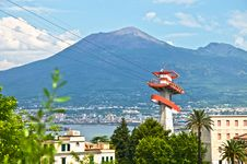 Free Vesuvius With Cableway Royalty Free Stock Photography - 14861787