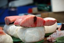 Free Tuna A Fish Fresh On Ice. Fish Market Stock Photo - 14863350