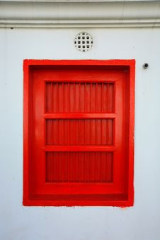 Free Red Window In Thailand Temple Royalty Free Stock Images - 14864499