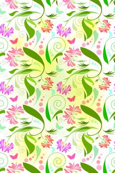 Free Seamless Floral Pattern Royalty Free Stock Image - 14864636
