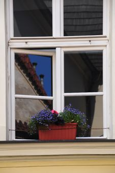 Free Reflection In A Window, Prague Czech Stock Images - 14865264