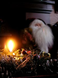 Free Flaming Christmas Decoration Stock Image - 14865761