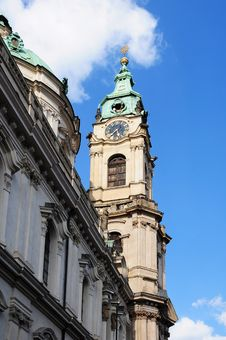 Tower Clock In Prague Stock Photography