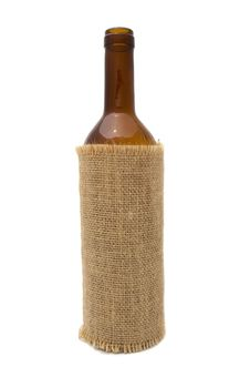 Free Wine Bottle In Sackcloth Royalty Free Stock Images - 14866509