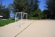 Free Sandy Beach Football Royalty Free Stock Image - 14867236