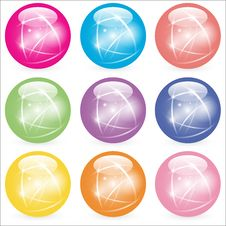 Free Web Buttons Glass Marbles Royalty Free Stock Photo - 14867475
