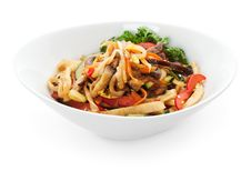 Free Noodles With Vegetables Royalty Free Stock Images - 14867549