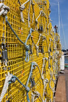 Free Yellow Lobster Traps Royalty Free Stock Photos - 14868618