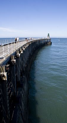 Whitby Pier Stock Photography