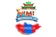 Map And Logo Of Mongolia Stock Photography
