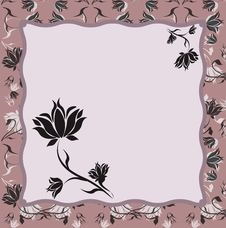 Free Floral Frame. Stock Photos - 14868833