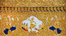 Free Carvings Thai Art At Wall Temple Stock Photos - 14869733