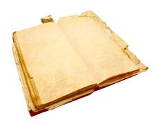 Free Notebook For Notes With The Turned Yellow Pages Stock Image - 14869921