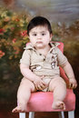 Free Baby On A Chair Royalty Free Stock Photography - 14871737