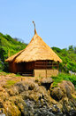 Free Bamboo Hut On Cliff Royalty Free Stock Photos - 14876458