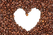 Free Heart In Coffee Beans Stock Photography - 14870282