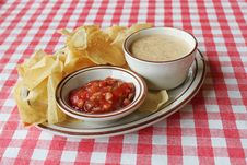 Free Salsa And Chips Royalty Free Stock Photo - 14870295