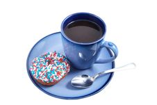 Free Blue Cup With Donut Royalty Free Stock Photos - 14870698