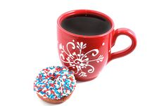 Free Red Cup With Donut Stock Images - 14870704
