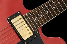 Free Red Elecric Guitr Close-up Royalty Free Stock Photos - 14870718