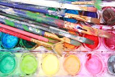 Free Paints With Brushes Royalty Free Stock Photos - 14870958