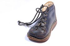 Free Blue Leather Childs Shoe Royalty Free Stock Photos - 14871268
