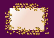 Free Card With Golden Leaves.  Vector Illustration. Stock Photos - 14871283