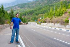 Free Hitchhiking Royalty Free Stock Photo - 14871905