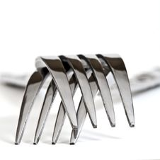 Free Two Forks Facing Down Isolated Royalty Free Stock Image - 14872236