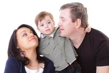 Free Father And Mother Look At Boy Stock Photography - 14872382