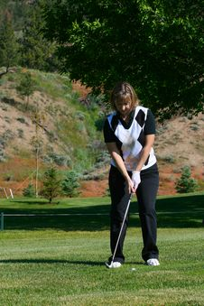 Free Female Golfer Stock Images - 14872584