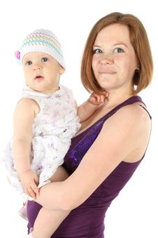Mother S Love. Cute Baby 8 Month With Mother Stock Image